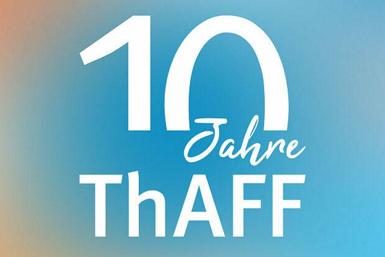 Signet anlässlich des 10. Jubiläums der Thüringer Agentur Für Fachkräftegewinnung